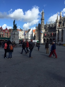 The Markt Square is supposed to be one of the most enjoyable town squares in Belgium. As you can see it's quite lively.
