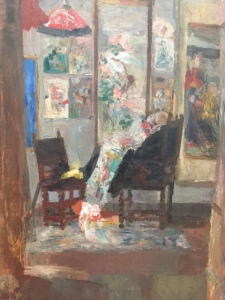 "James Ensor, ""The Skeleton Looking at Chinoiseries"", 1885"