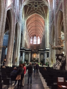 St. Bavo's is a large Gothic cathedral built in 1350 on the site of an earlier structure dating to 942.
