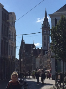 The Korenmarkt, one of several squares in the city each one specialized in a different kind of commerce. Today all home to shops and restaurants.