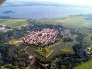 An aerial view of Naarden to give you the complete view.