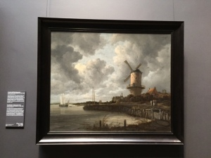 My last post was of a real Dutch landscape though it did not have the windmill or water. If you look at any of the photo images of this country they have the same light and perspective of paintings like this one by Jakob Ruisdael. I'll have more to share in the next few days.