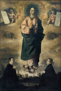"After our visit to the Dali Museum I'm seeing surrealism everywhere- standing on top of floating baby heads...Francisco Zurbaran, a Spanish Baroque painter. ""Immaculate Conception"", 1632"
