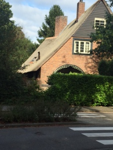 Back in Bussum we walked past a private home that still has a thatched roof.  Must be expensive to replace but so beautiful.