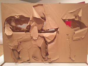 """Saburo Murakami, """"Six Holes"""", 1955, wood, paper"""