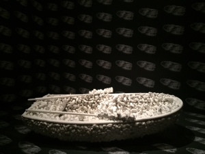 "Yayoi Kusama, ""Aggregation 1000 Boats"", 1963, plastic, textile, leather, metal paint"