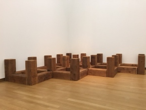 "Carl Andre, ""Bloody Angle"",  1985, Western Red Cedar"