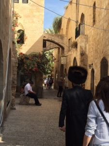 Alley in the old city of Jerusalem.