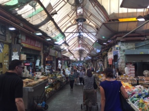 Main corridor of the market with many lanes crisscrossing it.