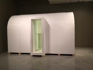 "Absalon, ""Cell No. 1"", 1964, wood, white waterproof paint"
