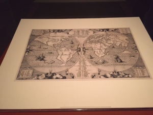 """Benedictine Arias Montanus, engraving, Maps of the Holy Land, 1572"