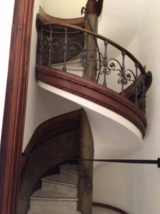Not permitted to take photos in the Picasso Museum but could not resist this spiral staircase.