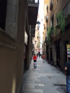 Narrow alleys get you away from the hustle and bustle of the touristy La Rambla