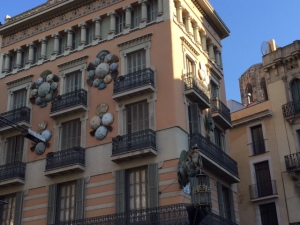 Another interesting facade on Las Ramblas, notice the dragon protruding from the end.