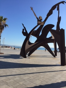 There is quite a bit of sculpture along the waterfront probably also left from the Olympics.