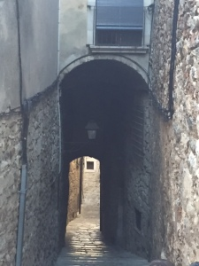 This is the second alley.  The community was protected by the king because the Jewish community provided financial assistance to the king.  The church on the other hand was not so happy with the Jewish community and the Inquisition destroyed the community in the late 15th century.