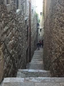 One street of the Jewish quarter which was separated from the rest of the city.  This narrow alley and the one in the next photo were only reopened in the 1970s.  They were walled off before then.