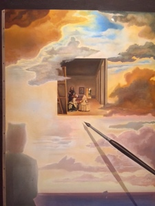 "Dali's full blown reinterpretation of ""Las Meninas"""