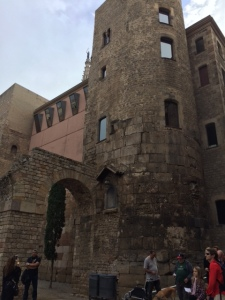 You can see remnants of a Roman aqueduct and a Medieval tower.