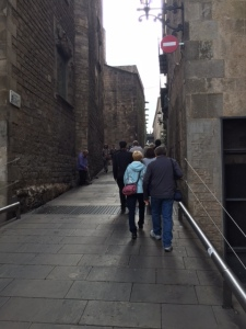 Leaving the Jewish quarter we once again make our way along the Roman road.