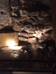 Another portion of the Roman floor sunken many feet below street level now.