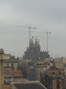 And of course you can see Sagrada Familia from here.