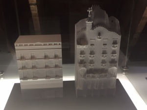 Here is a model showing the before and after renovation of the facade.