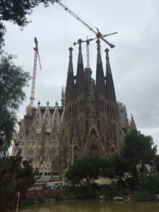 Sagrada Familia was started in 1883 and after a year the project was turned over to Gaudi who was a deeply religious man. He moved into the cathedral and lived there for the next 14 years. He died unexpectedly and work on his masterpiece continues as you can see.