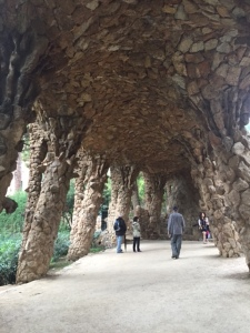 Grottos and viaducts form paths throughout the park.