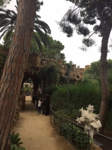 Close to Gaudi's home you can see how much he valued the natural setting.