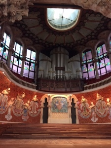The organ was played for us. The acoustics are quite remarkable.