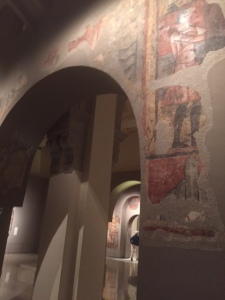 The museum wanted to preserve them in Catalonia as part of their heritage and so painstakingly removed them from the walls and installed them in a display that mimics the church they came from.