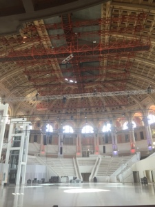 The museum has a huge performance space which was interesting to see since we'd seen the Palau Musica earlier in the day. It was quite a contrast.