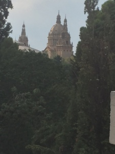 View of the National Museum from the Miro Foundation