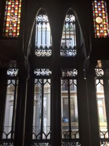 Upper story windows facing the street