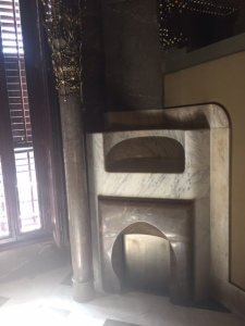 Most rooms had this type of fireplace designed by Gaudi himself. Notice the parabola once again.