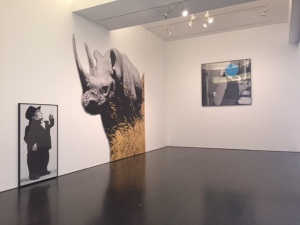 "John Baldessari, ""Dwarf and Rhinoceros With Story Called Lamb"", 1989/2013,"