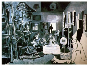 "An entire two rooms were dedicated to Picasso's interpretation of Velasquez' ""Las Meninas"". It had seen some of these illustrated but it was great to go back and forth. If you are just finished the Baroque in my class you are familiar with this amazing work. Now you can see how another artist interprets it."