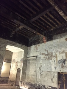 When you see a ceiling like this you understand that wooden ceilings are rare from this time period as they were susceptible to fire.