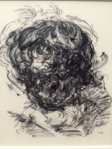 """After Jordaens"", 2013, ink on two sheets of polypropylene"
