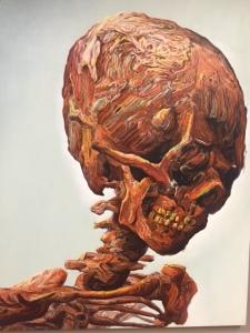 """Glenn Brown """"Suffer Well"""", 2007, oil on panel"""