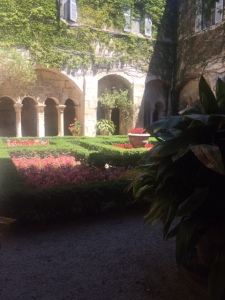 The monastery and cloisters are from the 12th century.