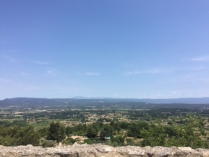 Looking out from Opede Le Vieux over the Luberon region.