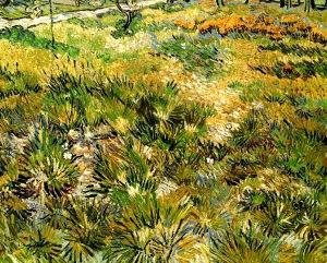 """van Gogh, """"Meadow in the Garden of St. Paul"""", 1890"""
