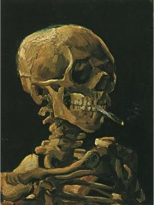 "Van Gogh, ""Skull with Burning Cigarette"", 1885"