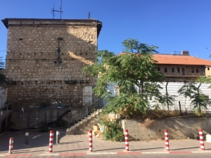 Used as an army barracks by the Turks, then by the British, and finally by the Haganah (Israeli forces) in 1948. It became a public parking lot and now will be over 200 luxury apartments, supposedly preserving the 8 original buildings.