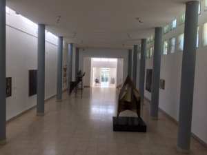 The natural light comes through skylights onto the walls.  As far as I could tell all of the art is by Israeli artists, much of which looks quite derivative and dated when looking at the permanent collection of the museum.