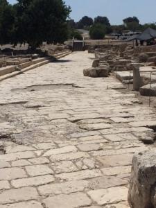 The cardo main street from 63 BCE