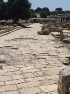 The cardo main street from 63 BCE