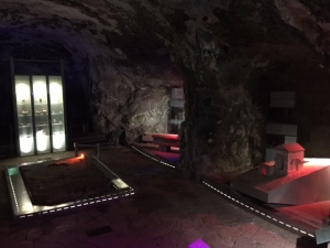 One of the caves turned into a museum of artifacts found inside the caves.